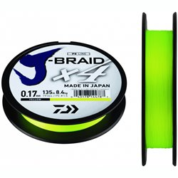Шнур Daiwa J-Braid X4 Dark Yellow  135м
