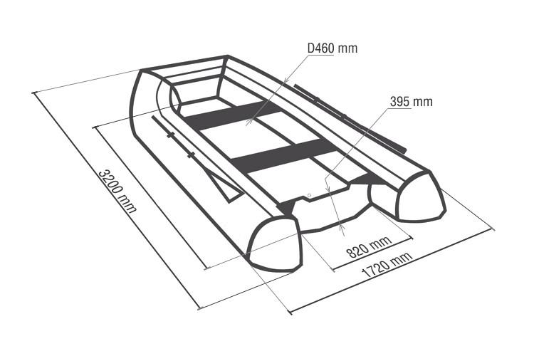Схема размеров лодки ПВХ